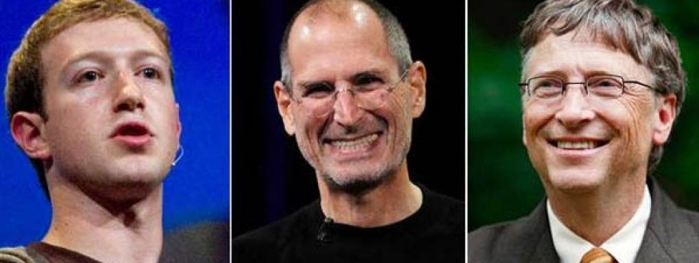 Mark Zuckerberg- Steve Jobs-Bill Gates