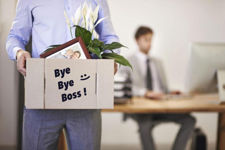 dire bye bye à son boss