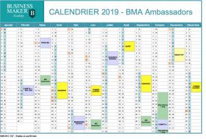 Calendrier BMA 2019 Ambassadors